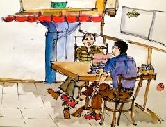 Coffee inside a shophouse