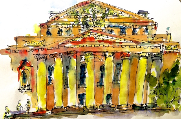 The famous Bolshoi Theatre