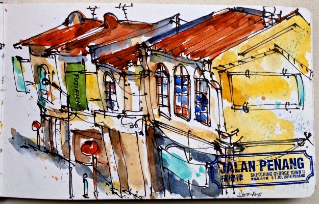 Shophouses along Jalang Penang