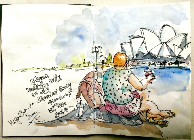 This is Megan. Of course, I had to draw her. I also got her to sign my sketch. Notice her surname - 'Jesus'!