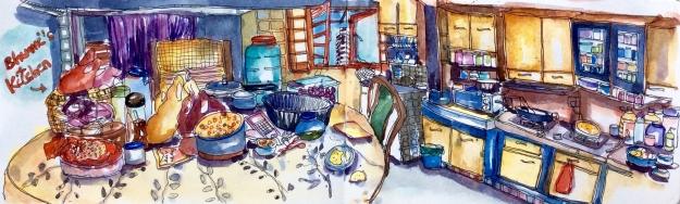 Bhumi's 'cluttered' Kitchen in a 2-room HDB in Kelantan