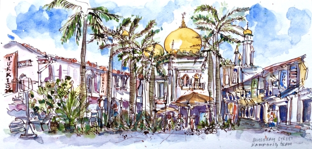 The Sultan Mosque in Kampong Glam