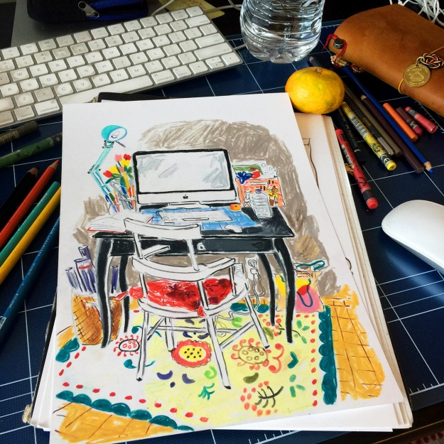 Desk drawing low res