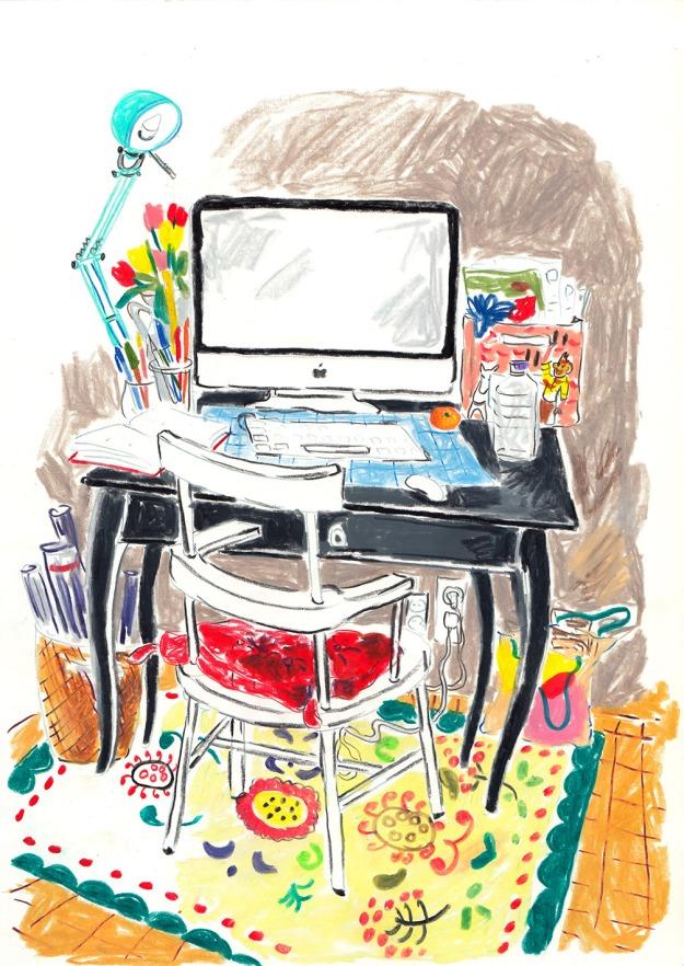 desk with orange copy - low res copy